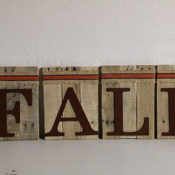 FALL Pallet Wood Mantle Decor Sign