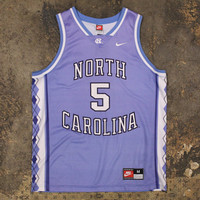 UNC Tarheels #5 Nike Basketball Jersey Carolina Blue (Medium)