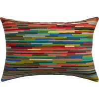 "Rapid Transit Embroidered 18""x12"" Pillow With Feather-down Insert"