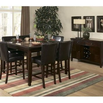Elegant Homelegance Belvedere 6 Piece Counter Height Dining Room Set