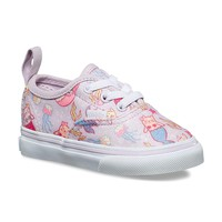 Vans Toddlers Authentic Elastic Lace (Purrrmaids) Lavender Fog/True White VN0A38E8U42 Shoes