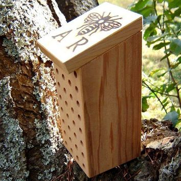 Mason Bee House Reclaimed Wood Nest