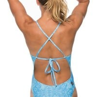 Printed Jackson 3 Tie-Back Onesuit - Tryst