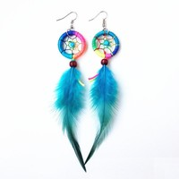 Feather Earrings Dream Catcher [11573014676]