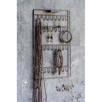 Industrial Wall Jewelry Display
