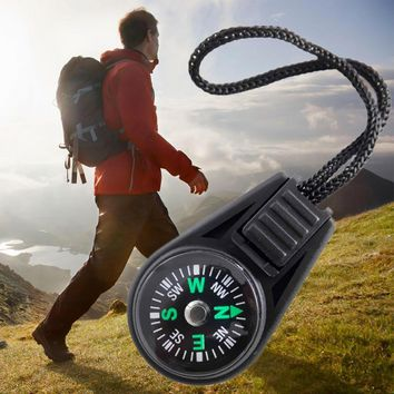 Zipper Pull Mini Compass Backpack Bag Strap Charm Sport Mini Pocket Compass Navigator for Camping Caving Hiking Hiker with Sling