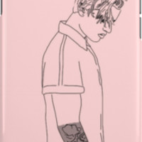 Justin Bieber pink drawing by dopeoutlines