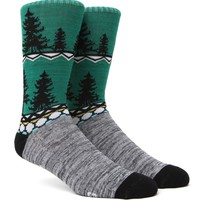"""New"" Socks Winter In Beirut Crew Socks - Mens Socks - Green - One"