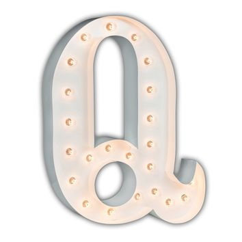 """24"""" Letter Q Lighted Marquee Letters (White Gloss)"""