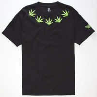Brooklyn Projects Leaf Mens T-Shirt Black  In Sizes