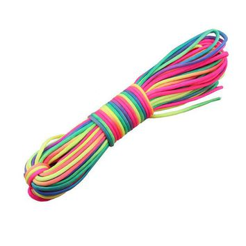 VONE05L Rainbow  Paracord 550 Paracord nylon Parachute Cord Lanyard Rope outdoor Climbing paracord  Camping tool