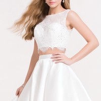 Alyce 3734 Two Piece Lace Crop with V-Cut Back