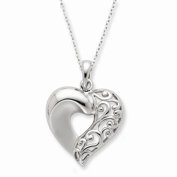 Sterling Silver Close To My Heart Necklace