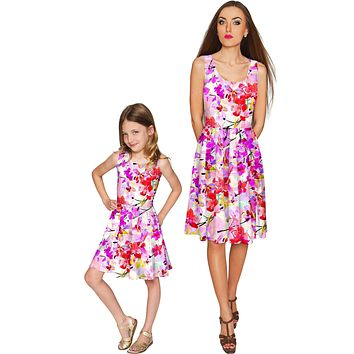 Orchid Caprice Mia Fit & Flare Skater Mommy and Me Dress
