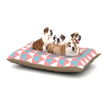 "KESS Original ""Be Still"" Blue Pink Dog Bed"