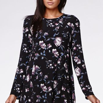 Kendall & Kylie Babydoll Dress - Womens Dress - Floral
