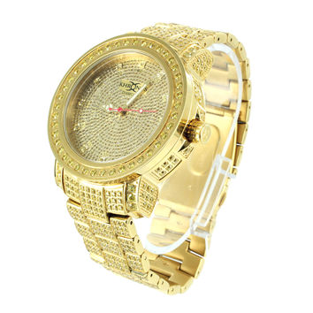 Mens Stainless Steel Khronos Watch Canary Lab Diamond
