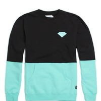 Diamond Supply Co Brilliant Split Crew Fleece - Mens Hoodie - Black