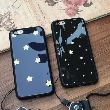 Fashion star couple mobile phone case for iphone 5 5s SE 6 6s 6plus 6s plus + Nice gift box!