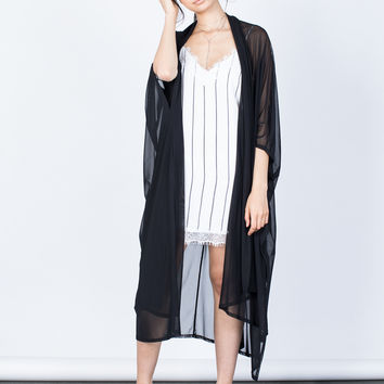 Flow into Sheer Duster