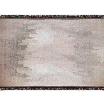 Brushed Screen Woven Blanket