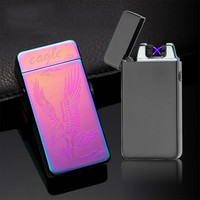 "USB Rechargeable ""Spectrum Metallic"" Double Arc Plasma Lighter"