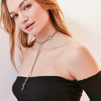 Statement Loop Lariat Necklace | Urban Outfitters