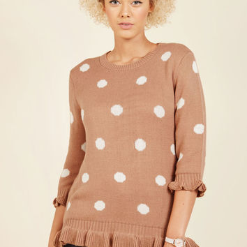 Filled With Frill Polka Dot Sweater