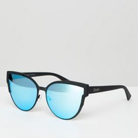 Quay Australia game on cat eye sunglasses with mirrored lens at asos.com