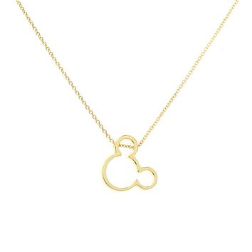 Hot Selling Simple Design Dainty cute Mickey Necklace Cartoon Style Baby Mouse Necklace christmas gift Birthday Gift collar