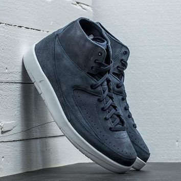 [Free Shipping ]Air Jordan 2 Decon Blue Ash Basketball Sneaker