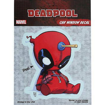 Marvel Deadpool Chibi Dart Car Window Decal