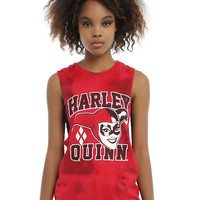 DC Comics Harley Quinn Tie Dye Girls Muscle Top