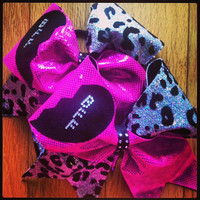 BFF cheer bows in cheer team colors by TonTonsBowtique on Etsy
