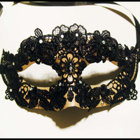 "Beautiful Masquerade Mask : ""Gothic Colombina"""