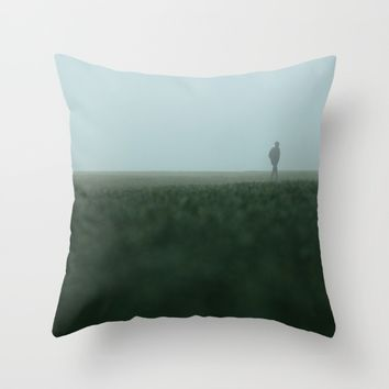 Leaving Throw Pillow by Tomas Hudolin