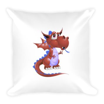 Draco Blood Red Pillow
