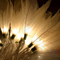 Flower String Lights White Champaka  For Bedroom and Wedding Decoration 20 Lights / Set