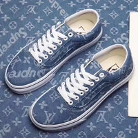 Vans & Supreme& Lv Casual lovers shoes denim low Gang