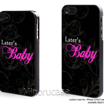 later baby black pink Custom case For iphone 4/4s,iphone 5,Samsung Galaxy S3,Samsung Galaxy S4 by minorucase on etsy