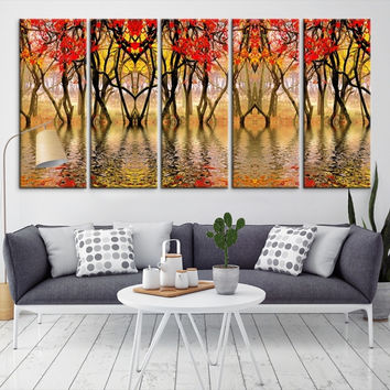 63386 - Forest Wall Art- Autumn Canvas Print- Forest Canvas- Forest Canvas Art- National Art Print- Canvas Print- Large Wall Art-