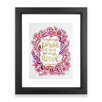 Society6 Anything s Possible G Framed Print
