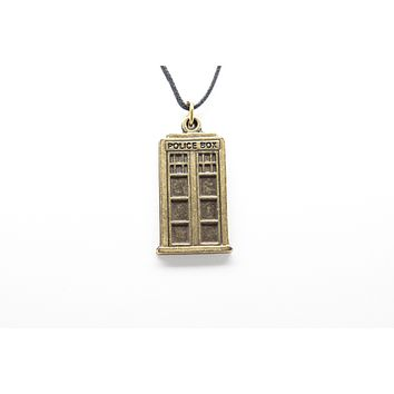 Police Box Unisex Necklace with Rope