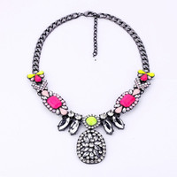 Talisman Pendant Necklace - Ice + Neon