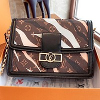 Louis vuitton LV  New fashion monogram print camouflage leather crossbody bag shoulder bag