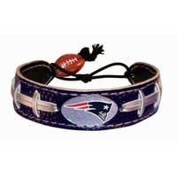New England Patriots Team Color NFL Football Bracelet