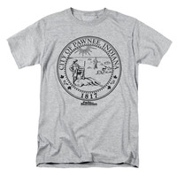Parks And Recreation Men's  Pawnee Seal T-shirt Heather Rockabilia