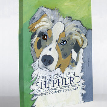 Australian Shepherd 1 Canvas Wall Decor by Ursula Dodge