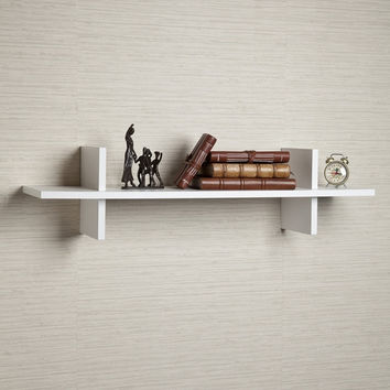 "decorative White ""H"" Shaped Wall Shelf by Danya B"
