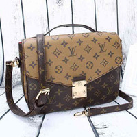 LV Women Shopping Leather Crossbody Satchel Shoulder Bag H